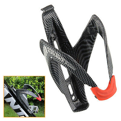Carbon Fiber Road Bicycle Bike Cycling Glass Drink Water Bottle Holder Rack Cage