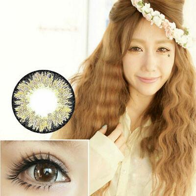 2 Braun Farbige Kontaktlinsen Contact Lenses Kosmetik Cosplay Party  COLOUR