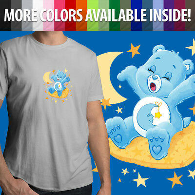 Care Bears Bedtime Bear Sleepy Goodnight Moon Stars Unisex Mens Tee Crew T-Shirt (Sleepy Bear Tee)