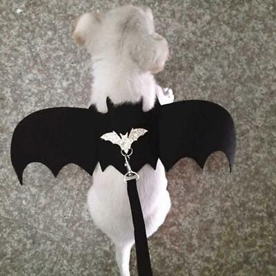 Bat Wings Black Cute Fancy Dress Up Walking Harness Vest for Pet Dog Cat Costume - Bat Wings Dog Costume