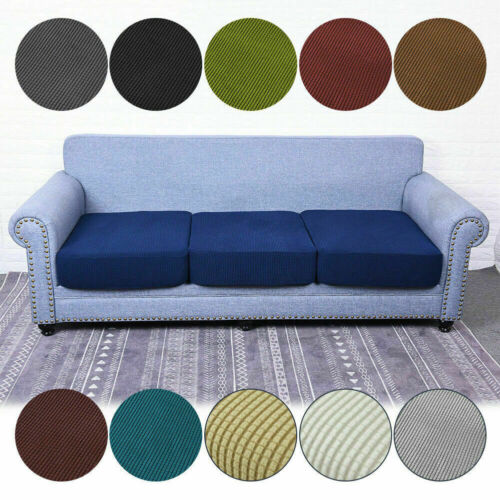 Details about Replacement Sofa Seat Covers Stretch Cushion Slipcovers Protectors 12 Colours