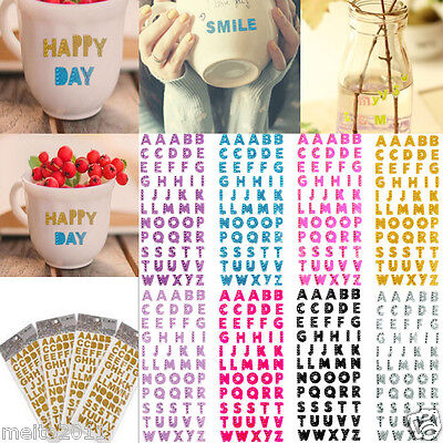 Dimensional Stick (55pcs Letter A-Z Alphabet Glitter Self Adhesive Crystals Stickers Stick On)