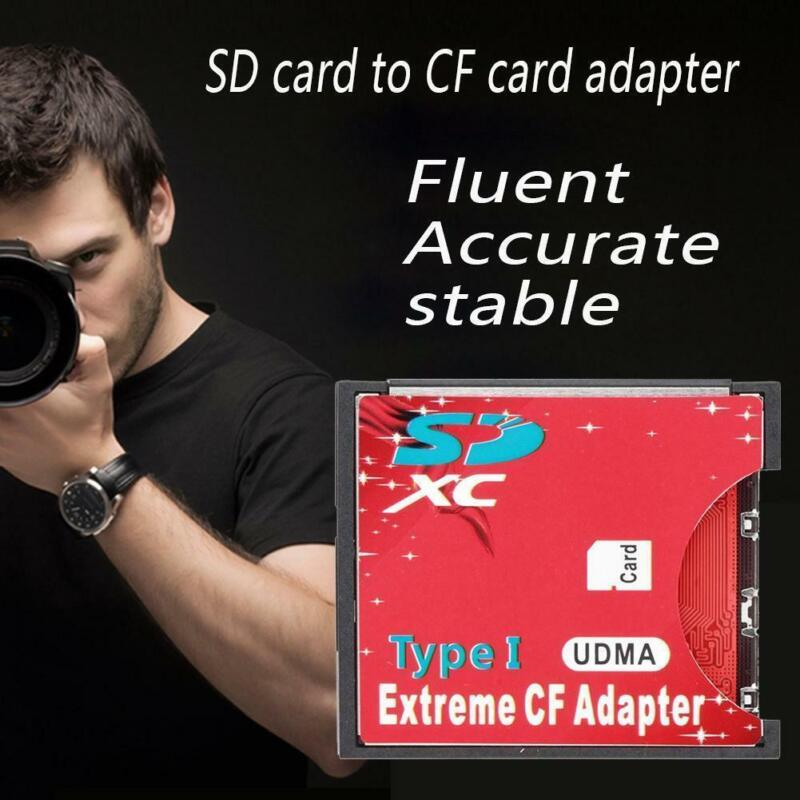 High Speed WiFi SDXC SDHC SD to Compact Flash CF Type I Card Reader Adapter