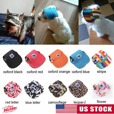 Pet Dog Baseball Cap Sports Windproof Hat Travel Sun Hats for Puppy Large (Dog Pets Cap)