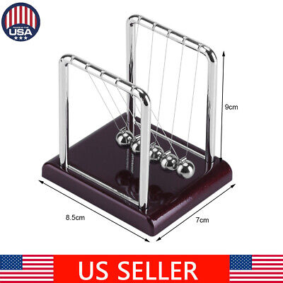 Newtons Cradle Fun Steel Balance Balls Physics Science Pendulum Desk Toy Gift US - Fun Office