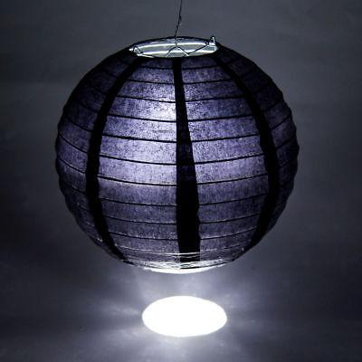 10X Papier Lampions Papierlampen Papierlaterne Lampenschirm Hochzeit Schwarz