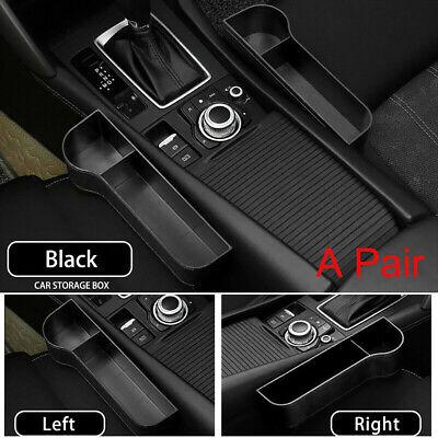 1 Pair Car Seat Gap Catcher Filler Storage Box Organizer Pocket Phone Cup Holder