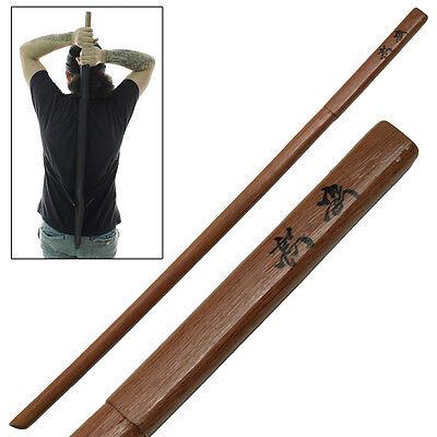 Aikido Japanese Martial Arts Practice Wooden Bokken FREE Sheath Combo Set (Wooden Ninja Sword)