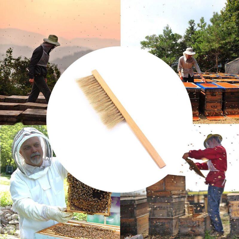 "16"" Natural Horse Hair Bee Hive Brush Beekeeping Equipment Beekeeper Tool"