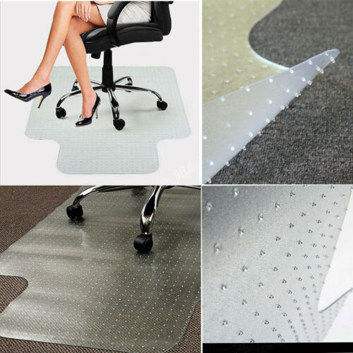 Rectangle PVC Home Office Chair Floor Mat Protector for Pile