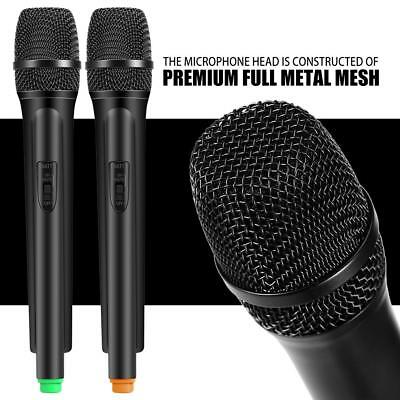 Pro Dual Handheld Wireless Microphone Mic &LCD Receiver System Kareoke Cordless ()