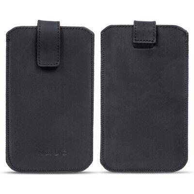 Leder Smartphone (Leder Tasche Pull Tab Universal Smartphone Sleeve Hülle Schutzhülle Case Cover )