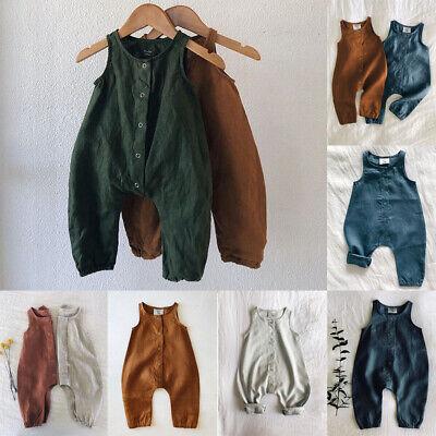 UK Newborn Baby Boy Girl Cotton Bodysuit Romper Jumpsuit Clothes Outfits Sunsuit