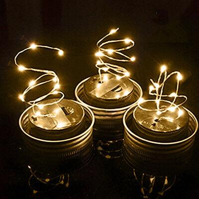 R LID INSERT LED FAIRY STRING LIGHT WEDDING HOME DECOR FADDI (Led-mason Jar Lids)