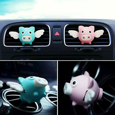 Pink Flying Pig Car Air Outlet Freshener Perfume Aroma Clip Diffuser Decor US KX