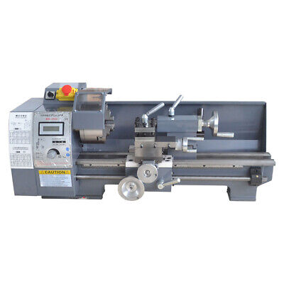 110v 8x16 750w Variable-speed Mini Metal Lathe Bench Digital Woodworking New