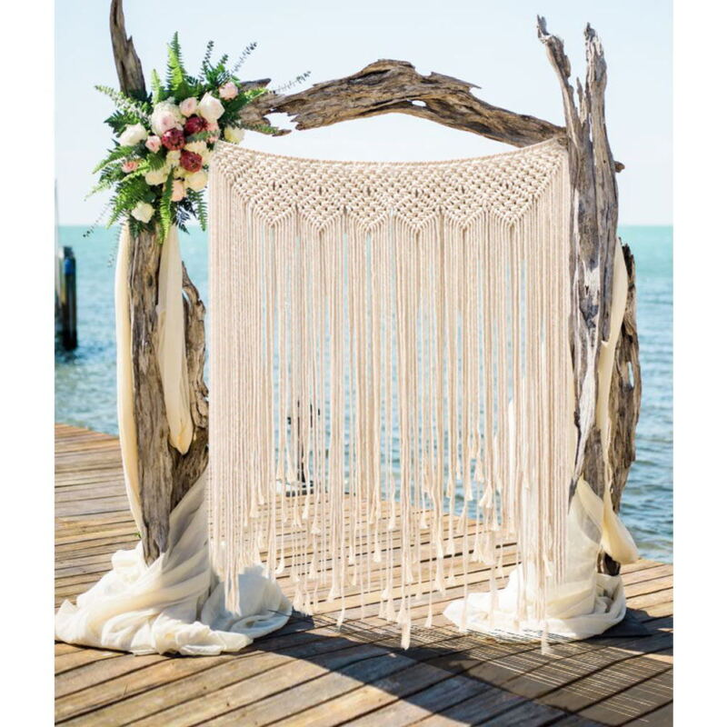 Macrame Wall Hanging Boho Wedding Backdrop Handmade Door Window Curtain Decor