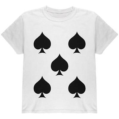 Halloween Five of Spades Card Soldier Costume All Over Youth T Shirt](Halloween Five)