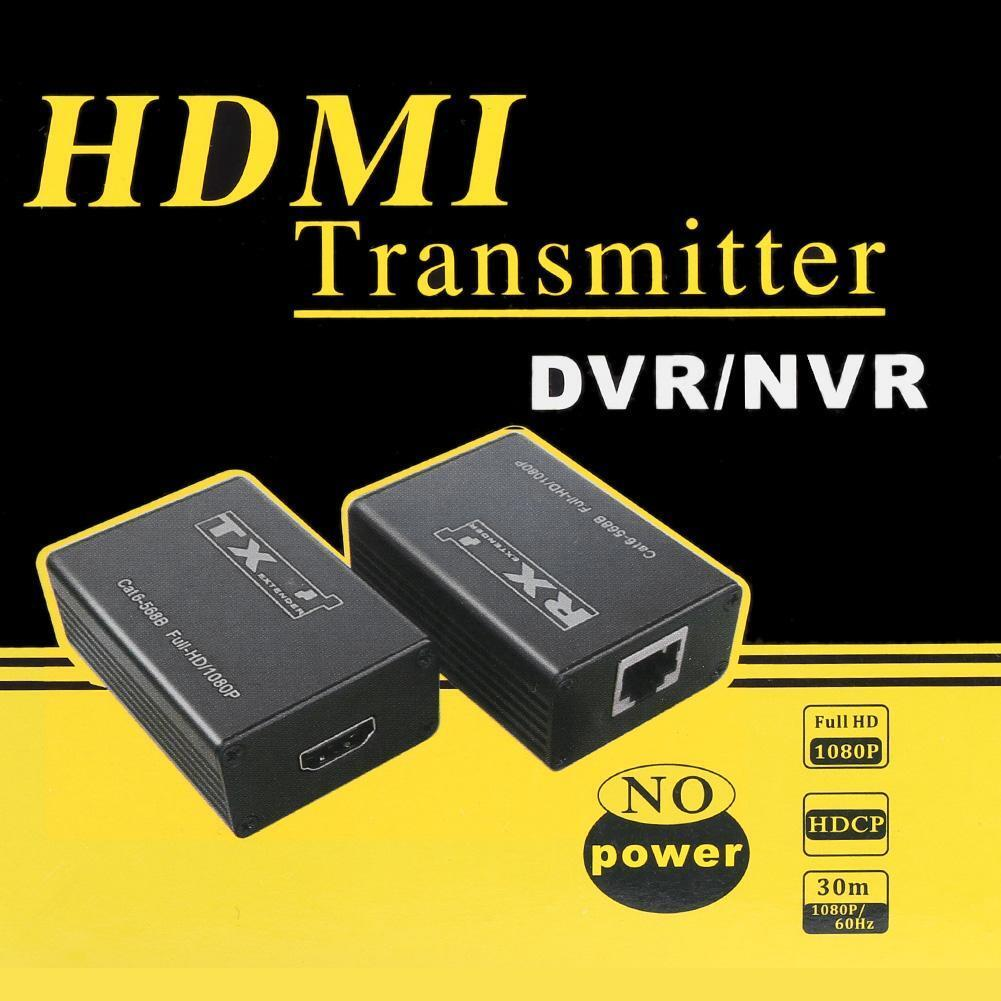 30m Wired HDMI Transmitter Receiver Extender 1080P Splitter