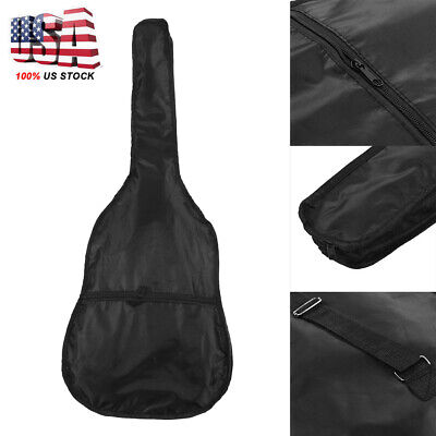"38"" Acoustic Electric Guitar Backpack Gig Bag Case 420D Oxford Waterproof"