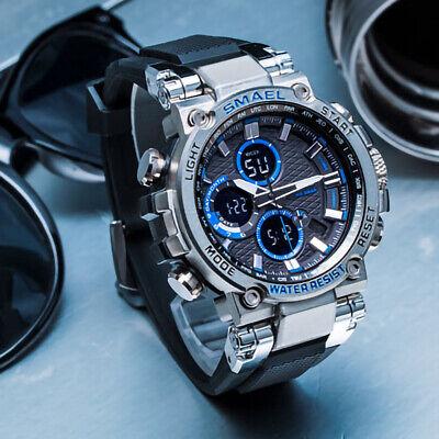 SMAEL Men's Fashion Date Military Digital Analog Waterproof LED Sport Watches US