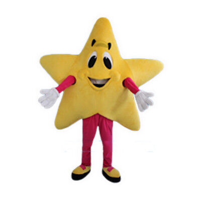 Star Mascot Costume Cartoon Character Unisex Cosplay Dress Adult Parade Outfit
