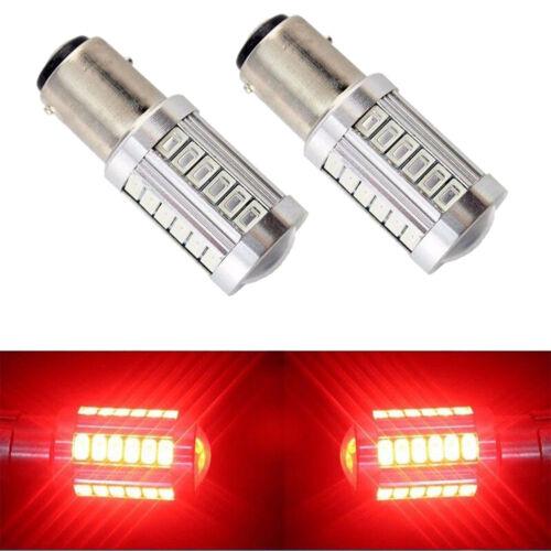 2x Red 1157 P21W 33 SMD 5630 LED Car Tail Stop Brake Lamp Bulb DC 12V Light Tool
