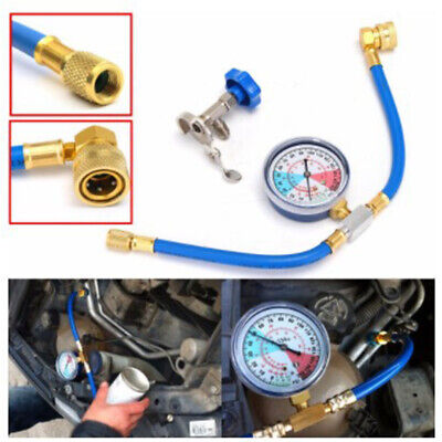 Car A/C Portable Air Conditioning Hose Gauge Durable Refrigerants Recharge