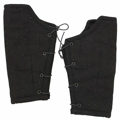 Medieval Renaissance Middle Ages Armor Padded Cloth Arm Bracers - Cotton/ Wool - Renaissance Medieval Clothing