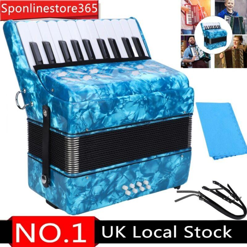 22 Keys Accordion 8 Bass+Strap Accordionist Musical Instrument Pure Sound