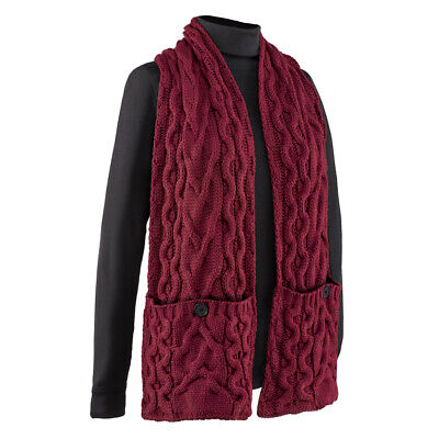 Comfortable Cable Knit Pocket Wrap -