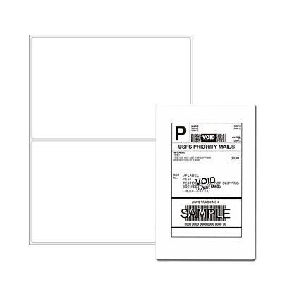 200 8.5x5.5 Self Adhesive Shipping Mailing Labels Half Sheet Round Corner Ebay
