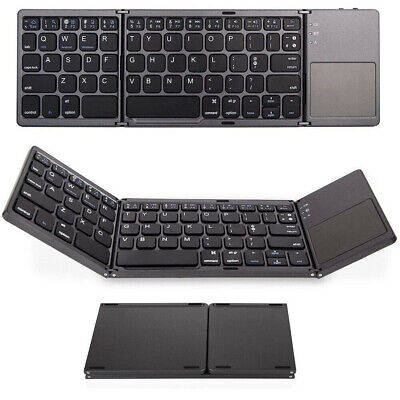 Mini Bluetooth Keyboard Touchpad Folding Triple For Mac Apple iPad iMac iPhone