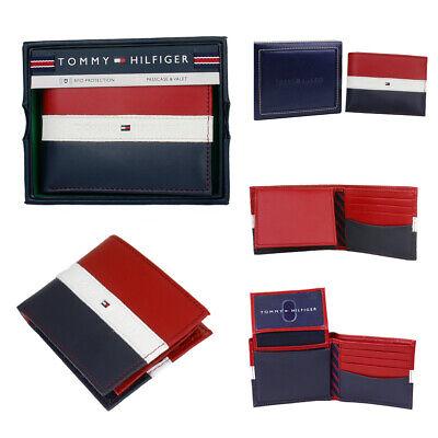 Tommy Hilfiger Men's Leather Wallet Passcase & Valet Billfold RFID Protection