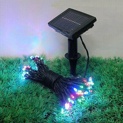 100 500 led solar lichterkette weihnachten party garten dekoration leuchten deko ebay. Black Bedroom Furniture Sets. Home Design Ideas