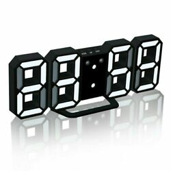 Modern Electronic LED Digital Alarm Clock Auto Night Brightness LED Black/White