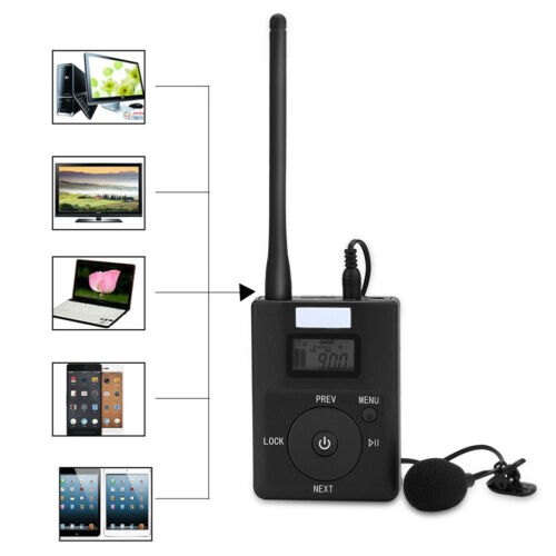 Details about 3 5MM Wireless FM Transmitter Portable Stereo Radio Broadcast  Adapter w/ Antenna