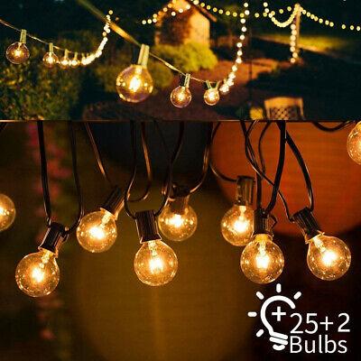 Lichterkette Glühbirnen Außen Beleuchtung Warmweiß Party Weihnachten Birnen G40