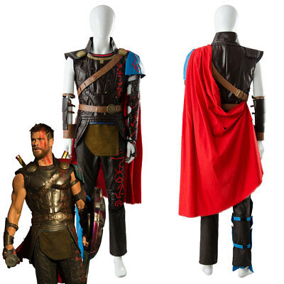 The Avengers Thor 3 Ragnarok Arena Gladiator Suit Battle Cosplay Outfit Costume (Thor Costume)