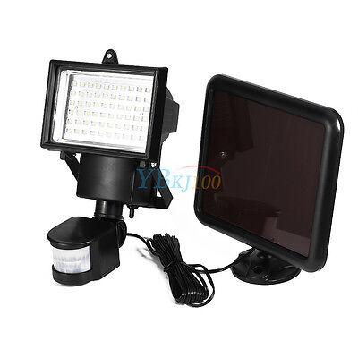60 LED Solarleuchte Solarlampe Strahler Wandleuchte Bewegungsmelder Leuchte TOP