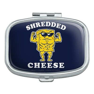Shredded Cheese Muscles Funny Humor Rectangle Pill Case Trinket Gift Box