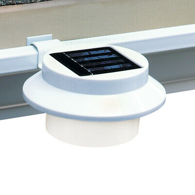 Solar Powered LED Gutter Safety Outdoor Light, Easy Install