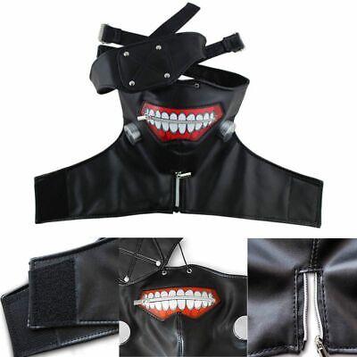 Tokyo Ghoul Perücke Wig Masken Kostüme Set Ken Kaneki Cosplay Halloween Karneval ()