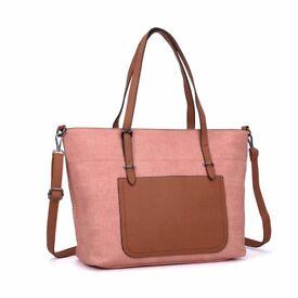 Ladies Patchwork handbag Brand New pink