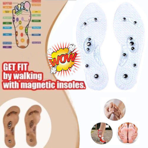 Anti-Odor Acupressure Lose Weight Magnetic Massage Shoe Insoles For Men/& Women~~