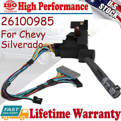 Turn Signal Switch Cruise Wiper For Chevy Silverado C1500 Suburban Tahoe 1995-98