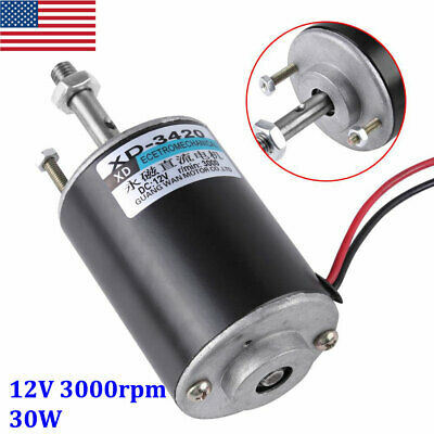 12 Volt Cwccw Permanent Magnet Dc Motor Diy Generator - 35000rpm 30w