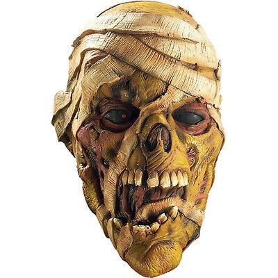 Mummy Mask Costume (Evil Mummy 3/4 Vinyl Adult Costume Mask Corpse Rubies)