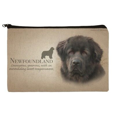 Newfoundland Dog Breed Makeup Cosmetic Bag Organizer Pouch