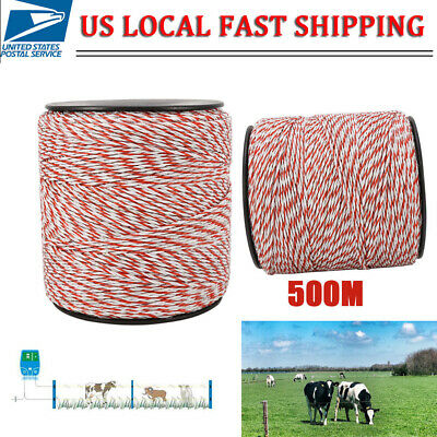 500m Whitered Hot Electric Livestock Fence Wire Stainless Steel Conductive Rope
